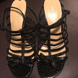 Via Spiga striped heels